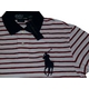 POLO Ralph Lauren(ポロ ラルフローレン) ビッグポニーストライプポロシャツ(半袖) カスタムフィット ホワイト×レッド Mサイズ - 縮小画像2