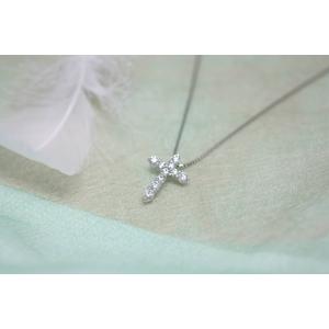 0.7ctダイヤモンドクロスネックレス JK06887 - 拡大画像