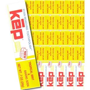ケップ 練りハミガキ ベーキングソーダ トロピカルミント 20g×24本 - 拡大画像
