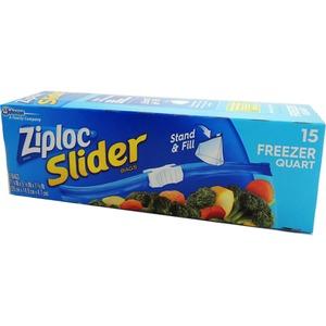 Ziploc イージージッパー フリーザーバック 15P 【3個セット】 - 拡大画像
