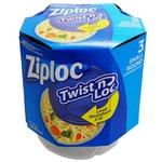 Ziploc コンテナ ツイストロック ラウンド Sサイズ 3P 【2個セット】
