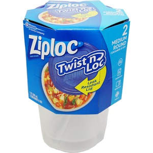 Ziploc コンテナ ツイストロック ラウンド Mサイズ 2P 【2個セット】 - 拡大画像