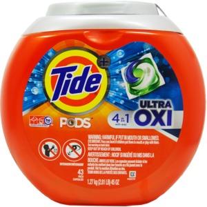 洗濯用洗剤 TIDE PODS(タイドポッズ) ウルトラオキシ 43回 - 拡大画像