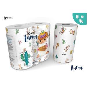キッチンペーパー ラマ 2P【×6個セット】 - 拡大画像