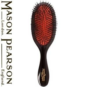 MASON PEARSON(メイソンピアソン) 猪毛ブラシ ハンディブリッスル ダークルビー(クリーニングブラシセット)【正規輸入品】 - 拡大画像