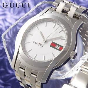 GUCCI(グッチ) メンズ ウォッチ YA055201 ホワイト文字盤 - 拡大画像