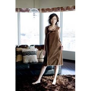 着れるバスタオル「バスタローブ」 チョコレートブラウン - 拡大画像