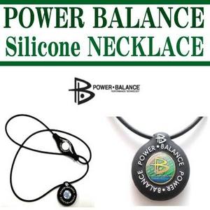 POWERBALANCE(パワーバランス) シリコンネックレス/ブラック - 拡大画像