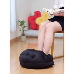 電気を使わない 暖か足温器 Cubeads「ペチカ」(色:外面/黒、中面/オレンジ) - 拡大画像