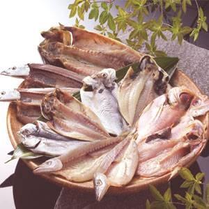 沼津「奧和」のひもの詰合せ6種(11枚)あじ、さんま、かます、金目鯛、えぼ鯛、さば - 拡大画像