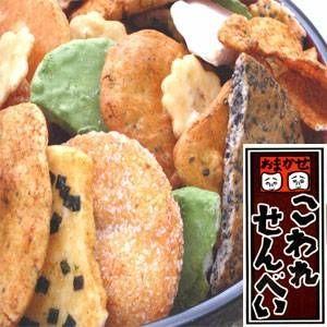【訳あり】草加・おまかせ割れせんべい(煎餅) 1000g缶 - 拡大画像