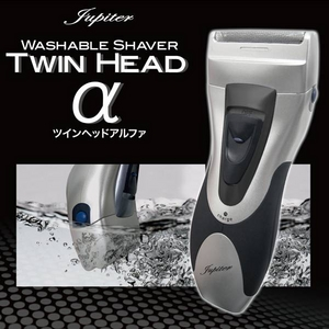 独立フロート2枚刃搭載の髭剃り TWIN HEADα(ツインヘッド アルファ) 鼻毛カッター付き - 拡大画像