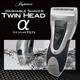 独立フロート2枚刃搭載の髭剃り TWIN HEADα(ツインヘッド アルファ) 鼻毛カッター付き - 縮小画像1
