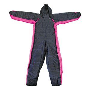 人型寝袋 ブラック×ピンク - 拡大画像