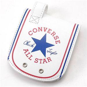 CONVERSE(コンバース) オールスター ヒップポケット レザーウォレット ホワイト - 拡大画像