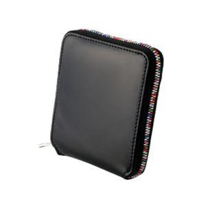 Ordinare(オルディナーレ)コードバンレインボージップウォレット(財布)ブラック - 拡大画像