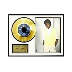 マイケルジャクソン・ゴールドレコード額装 ビリージーン - 拡大画像