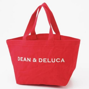 DEAN&DELUCA(ディーン&デルーカマーケット) トートバッグ SMALL OH-DEAN&DELUCA-ECO レッド - 拡大画像