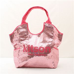 kitson(キットソン) スパンコール トートバッグ Sequin Tote Bag ピンク - 拡大画像