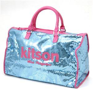 kitson(キットソン) スパンコール ボストンバッグ LEGGAGE SEQUIN TOTE /LightBlue - 拡大画像