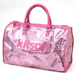 kitson(キットソン) スパンコール ボストンバッグ LEGGAGE SEQUIN TOTE /Pink - 拡大画像