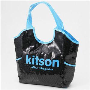 kitson(キットソン) スパンコール ネオンカラーバッグ NEON SEQUIN TOTE BAG /Blue - 拡大画像