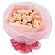 ピンクのバラ花束のミニブーケ - 縮小画像1
