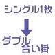 羽毛布団のリフォーム(打ち直し)【お手軽コース】(シングル掛→ダブル合い掛/普通仕立)【19212】ブルー - 縮小画像3