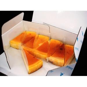 【訳あり大特価】 ベイクドチーズケーキ 約54g×8個+おまけ1個付き - 拡大画像
