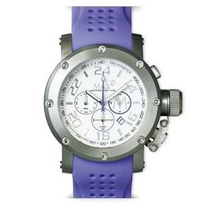 MAX XL WATCHES(マックスエックスエルウォッチ) ラバーベルト腕時計 5-MAX508 47ミリ ライトパープル - 拡大画像