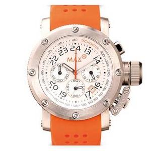 MAX XL WATCHES(マックスエックスエルウォッチ) ラバーベルト腕時計 5-MAX489 47ミリ オレンジ - 拡大画像