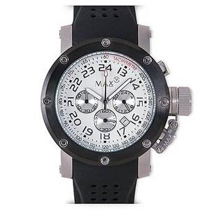 MAX XL WATCHES(マックスエックスエルウォッチ) ラバーベルト腕時計 5-MAX426 47ミリ ブラック - 拡大画像