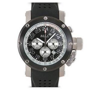 MAX XL WATCHES(マックスエックスエルウォッチ) ラバーベルト腕時計 5-MAX424 47ミリ ブラック×ブラック - 拡大画像