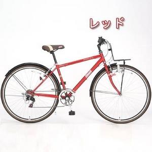 Coleman(コールマン) 27インチ 6段変速 クロスバイク CRB276 レッド - 拡大画像
