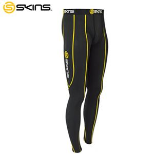 SKINS(スキンズ) SPORT ロングタイツ ブラック×イエロー B10001001 Lサイズ - 拡大画像