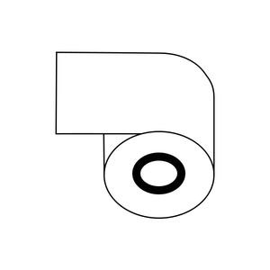 レジロール紙(感熱紙)58mm×80φ×12mm 【20巻】 - 拡大画像