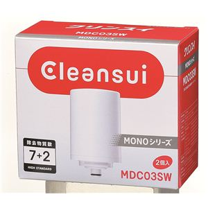 【2個入り】クリンスイ 蛇口直結型浄水器 モノシリーズ用 交換用浄水カートリッジ MDC03SW - 拡大画像