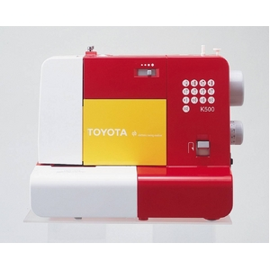 TOYOTA 電子速度制御ミシン K500R レッド - 拡大画像