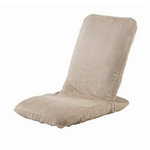 Palmo(パルモ)コンパクト家庭用マッサージ座椅子(ヒーターを内蔵)EM-002【本体+カバーセット】ナチュラルベージュ