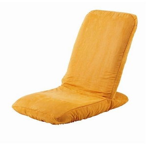 Palmo(パルモ)コンパクト家庭用マッサージ座椅子(ヒーターを内蔵)EM-002【本体+カバーセット】シャイニーオレンジ - 拡大画像
