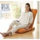 Palmo(パルモ)コンパクト家庭用マッサージ座椅子(ヒーターを内蔵)EM-002【本体+カバーセット】シャイニーオレンジ - 縮小画像3
