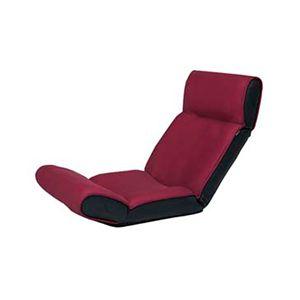 ツカモトエイム マッサージ座椅子(ヒーター付き) スイッチチェア プレミアム AIM-107 カシスレッド - 拡大画像