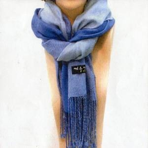 「冬のソナタ」オリジナル・マフラーコレクション 3色ブルー - 拡大画像
