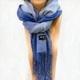 「冬のソナタ」オリジナル・マフラーコレクション 3色ブルー - 縮小画像1