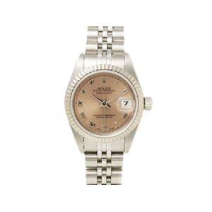 【中古A】ROLEX(ロレックス) 腕時計 デイトジャスト 69174 ピンク文字盤 U番 - 拡大画像