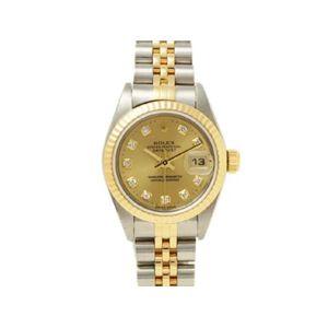 【中古A】ROLEX(ロレックス) 腕時計 デイトジャスト 69173G シャンパン 新ダイヤ T番 - 拡大画像