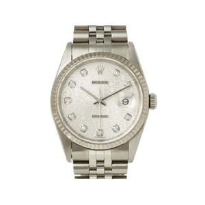 【中古AB】ROLEX(ロレックス) 腕時計 16234G シルバーコンピューター文字盤 T番 - 拡大画像