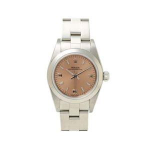 【中古A】ROLEX(ロレックス) 腕時計 オイスターパーペチュアル ピンク文字盤 76080 D番 - 拡大画像