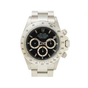 【中古A】ROLEX(ロレックス) 腕時計 デイトナ 16520 エルプリメロ 黒文字盤 A番 - 拡大画像