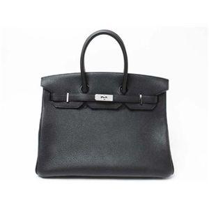 【新品】HERMES(エルメス) バッグ バーキン35 トゴ ブラック シルバー金具 M刻印 - 拡大画像